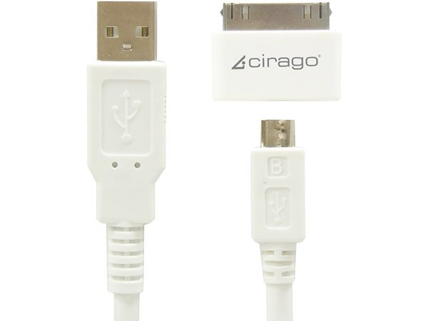Foto 0 en  - Cable USB de Cirago con adaptador a dock iPod