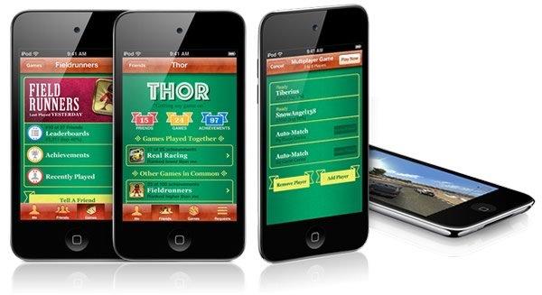 para juegos en red, incluida en el iOS 4.1 para iPod touch y iPhone