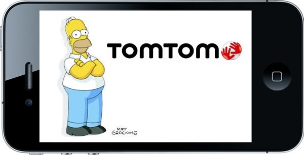 Foto 0 en  - La App de navegaci�n GPS para iPhone de TomTom ahora con la voz de Homero Simpson