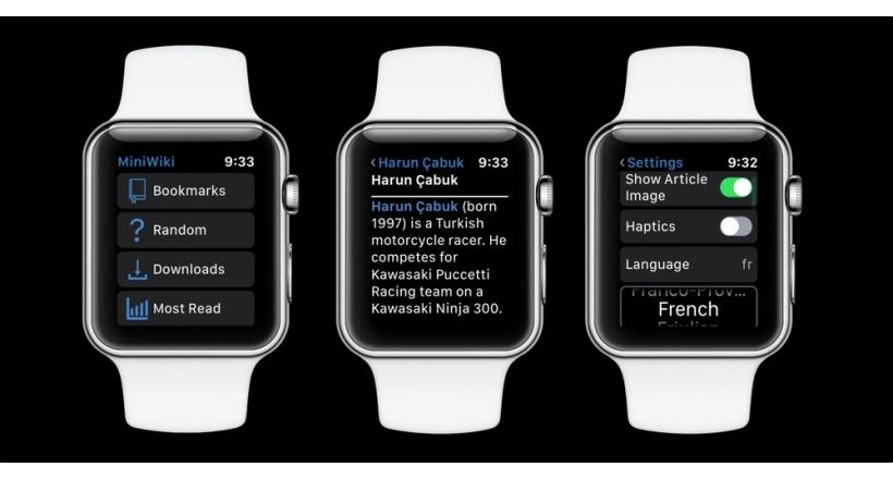 MiniWiki, Wikipedia on your Apple Watch