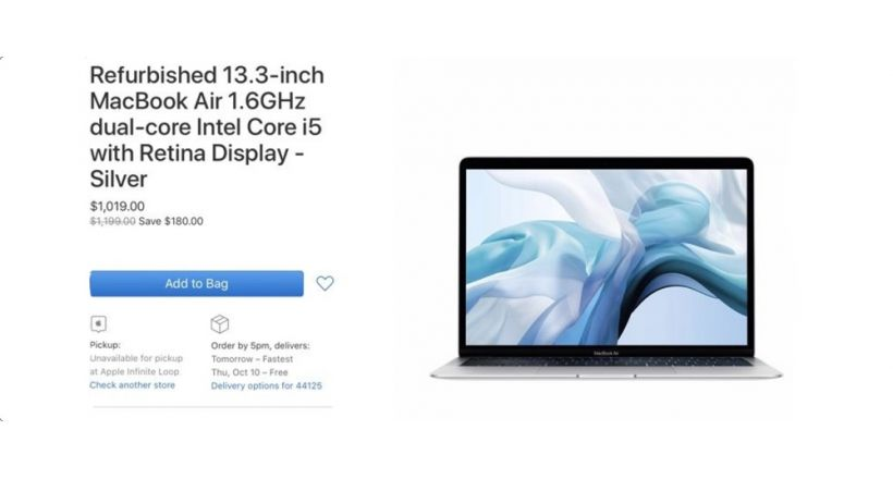 Apple adds MacBook Air 2019 and MacBook Pro, 2019, at their Refurbished Store