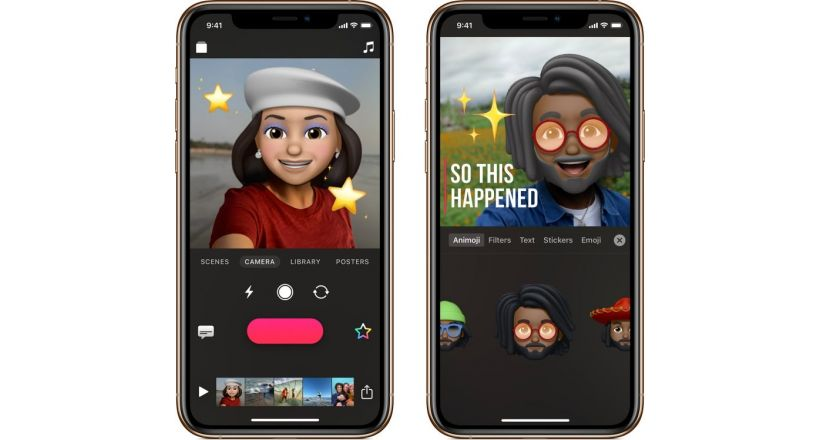 Apple Clips now with support for Memoji and Animoji and new Stickers