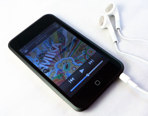 iPod touch con auriculares