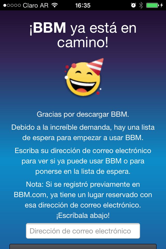 BlackBerry BBM para iPhone vuelve al App Store con una lista