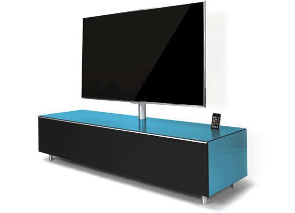 Mesa para televisor de pantalla plana con altavoces y dock ipodtotal - Muebles para televisores pantalla plana ...