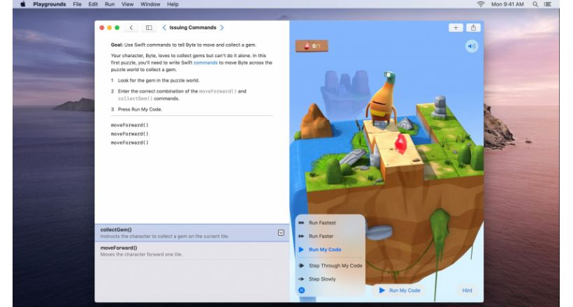 Apple lança aplicativo Swift Playgrounds para Mac, desenvolvido com Catalyst