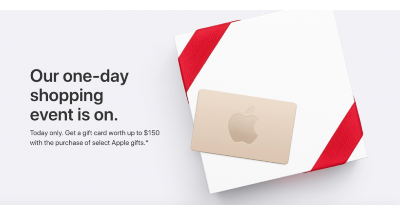 Apple launches their promotions to Black Friday with Gift Cards free