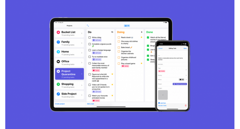 Tasks: a new iOS app for organizing projects