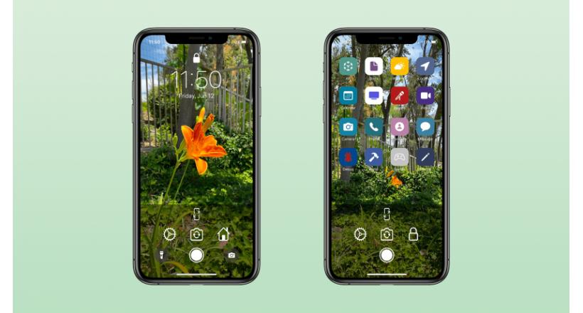 Lockne è un applicazione per la fotocamera per creare sfondi per iPhone