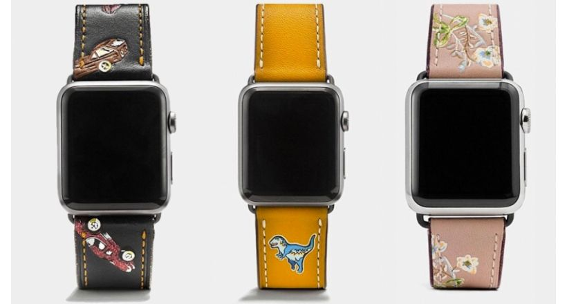 Coach offers several bands, Apple Watch with discount