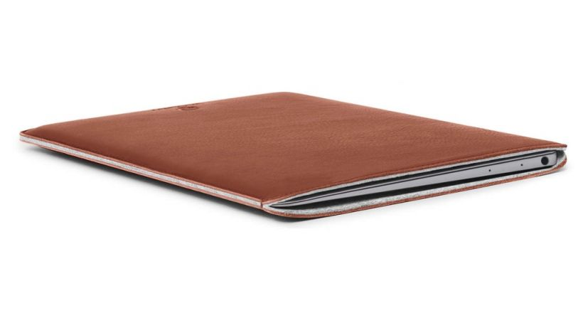 Leather cases for MacBook, Woolnut