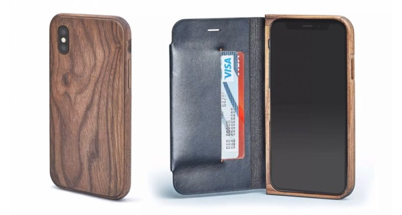 The line of cases of wood Grovemade is now available for iPhones 2018