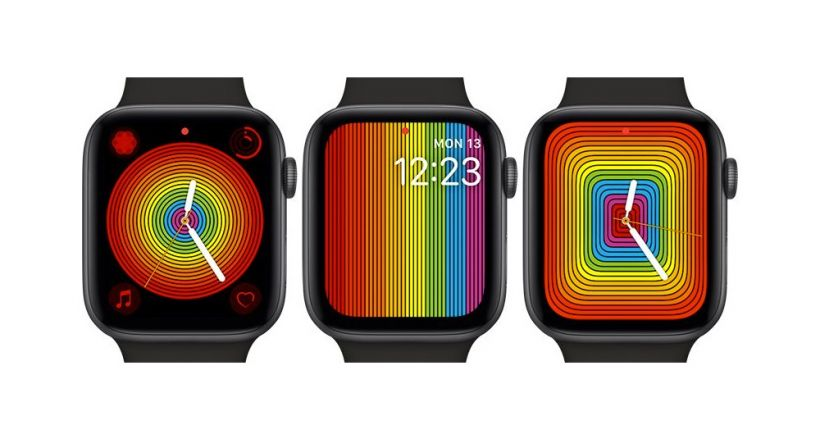 New faces Pride for the Apple Watch watchOS 5.1.2.
