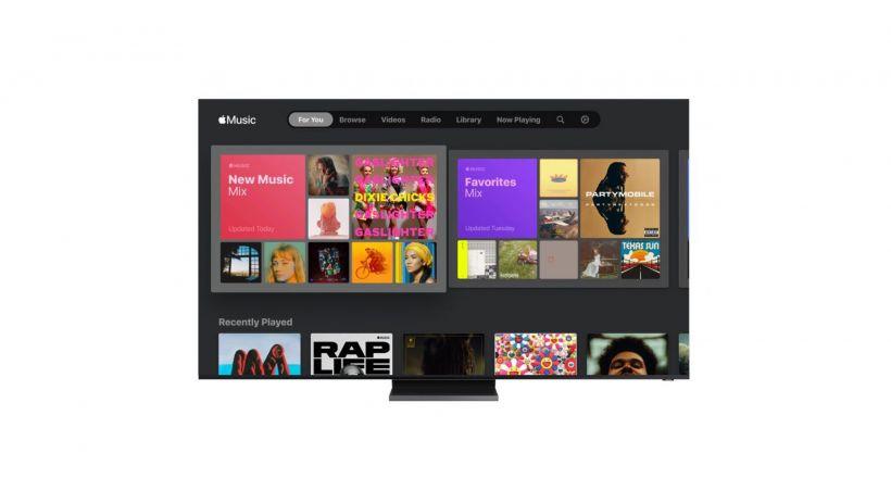 Neue Apple-app Music jetzt verfügbar auf smart TVs von Samsung 2018 und folgejahre
