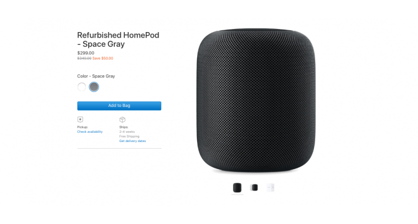 HomePod Refurbished for $ 299
