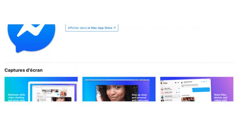 Messenger de Facebook, enfin, pour le Mac