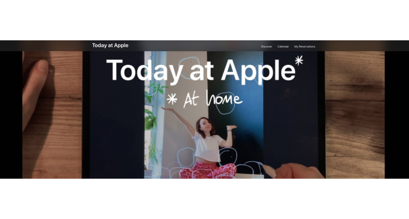 "Apple lança sua nova iniciativa ""Today at Apple (at Home)"""