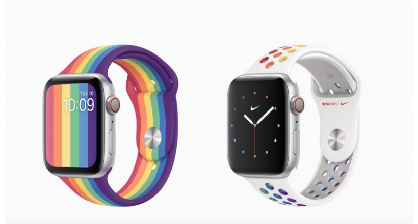 Novas bandas Apple Watch Pride