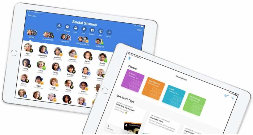 Apple updates their applications, Schoolwork, and Classroom with new roles for distance learning